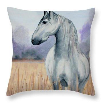 Solemn Spirit Throw Pillow