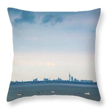 Solent Skies Throw Pillow