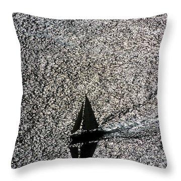 Sailing Into Solitude Throw Pillow