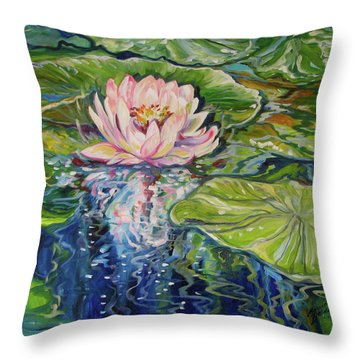 Solitude Waterlily Throw Pillow