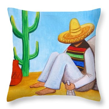 Sombrero Throw Pillow by Lucy Deane