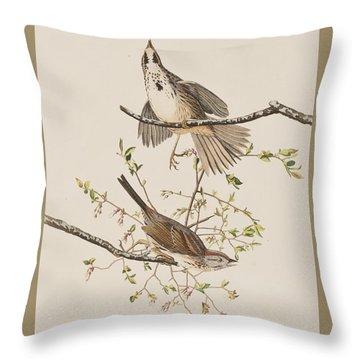 Song Sparrow Throw Pillow by John James Audubon