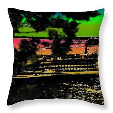 Soundside Treehouse View Throw Pillow by Tim Allen