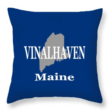 Throw Pillow featuring the photograph Southwest Harbor Maine State City And Town Pride  by Keith Webber Jr