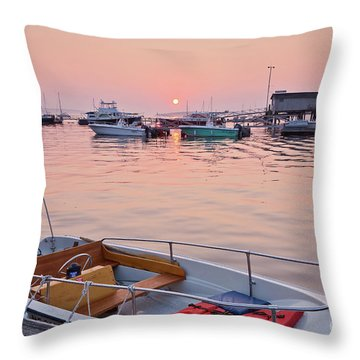 Southwest Harbor Sunrise Throw Pillow by Susan Cole Kelly