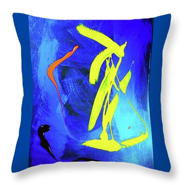 Throw Pillow featuring the photograph Space Dance by Elf Evans