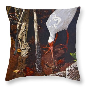 Sparring For Lunch Throw Pillow by Peter Muzyka