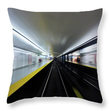 Speed 3 Throw Pillow by Brian Carson