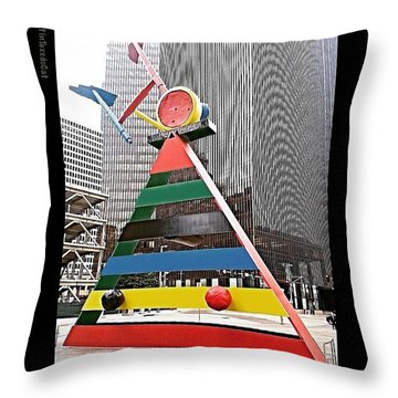 Spending Some Time In #downtown Throw Pillow