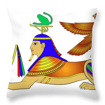 Sphinx - Mythical Creatures Of Ancient Egypt Throw Pillow by Michal Boubin