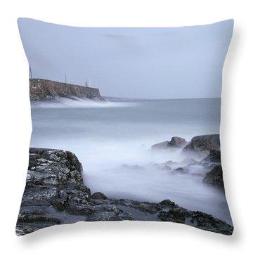Spiddal Pier Throw Pillow