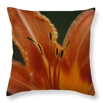 Throw Pillow featuring the photograph Spider Lily by Cathy Harper