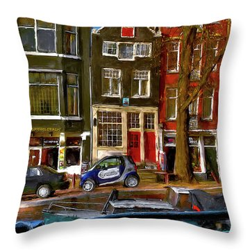 Spiegelgracht 6. Amsterdam Throw Pillow