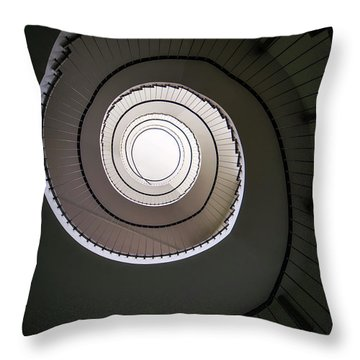 Throw Pillow featuring the photograph Spiral Staircase In Brown Tones by Jaroslaw Blaminsky
