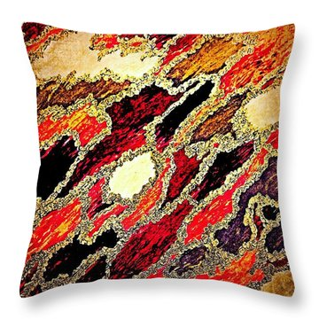 Spirit Journey Through The Fire Throw Pillow by Rachel Hannah