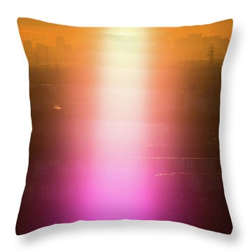 Throw Pillow featuring the photograph Spiritual Light by Tatsuya Atarashi