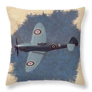 Spitfire - Wwii Fighter Throw Pillow