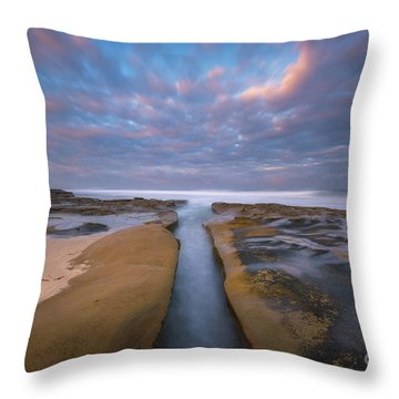 Throw Pillow featuring the photograph Where Worlds Divide  by Michael Ver Sprill