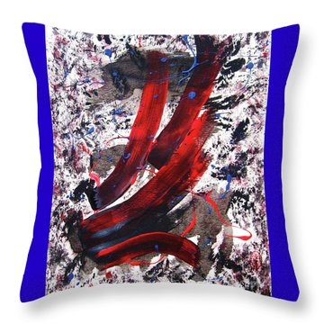 Throw Pillow featuring the painting Splitting The Atom by Roberto Prusso