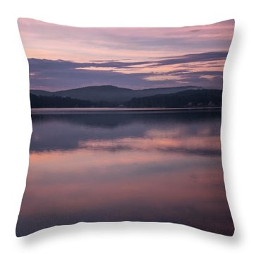 Spofford Lake Sunrise Throw Pillow