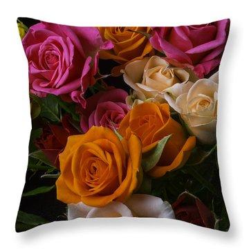 Spray Roses Throw Pillow