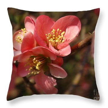 Spring Blooms Throw Pillow by Rebecca Overton