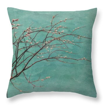 Spring Blues Throw Pillow