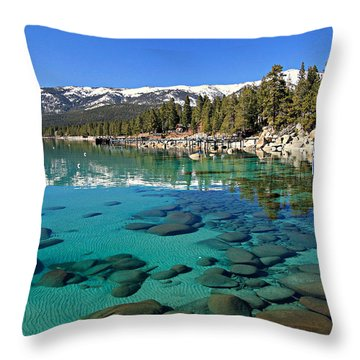 Spring Clarity Throw Pillow
