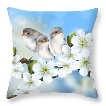 Throw Pillow featuring the painting Spring Fever by Veronica Minozzi