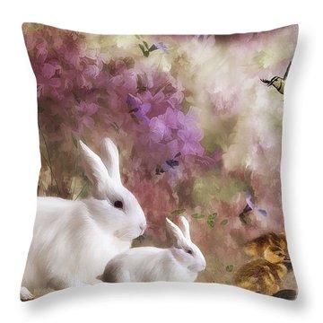 Spring Renewel Throw Pillow