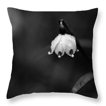 Spring Snowflake Throw Pillow