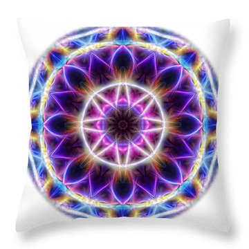 Spring Energy Mandala 2 Throw Pillow