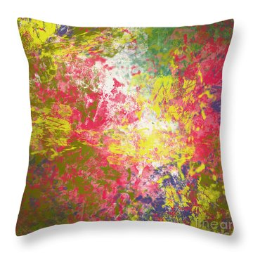 Throw Pillow featuring the digital art Spring Thoughts by Trilby Cole