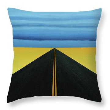 Squall Lines Throw Pillow