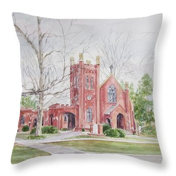 St. David's Episcopal Church Throw Pillow