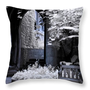Throw Pillow featuring the photograph St Dunstan's In The East by Helga Novelli