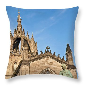 St Giles Cathedral  Edinburgh Throw Pillow by Liz Leyden