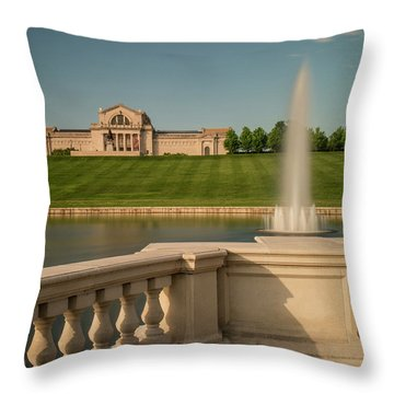 St Louis Art Museum In Forest Park Throw Pillow by Garry McMichael
