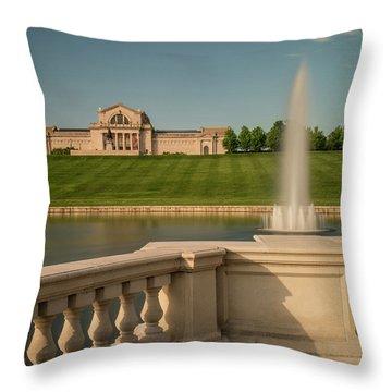 St Louis Art Museum In Forest Park Throw Pillow