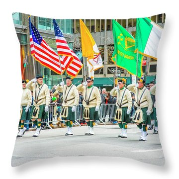 St. Patrick Day Parade In New York Throw Pillow