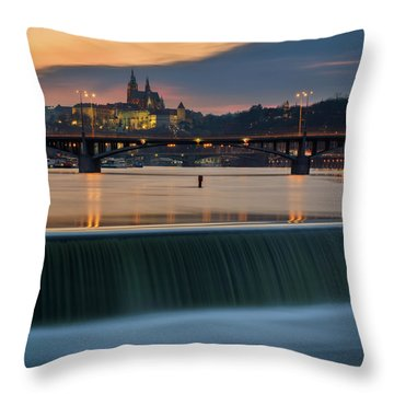 St. Vitus Cathedral, Prague, Czech Republic Throw Pillow