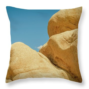 Stacked Boulders Joshua Tree Throw Pillow by Amyn Nasser