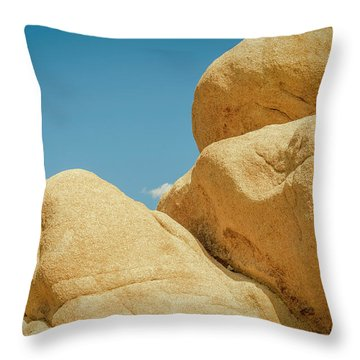Stacked Boulders Joshua Tree Throw Pillow