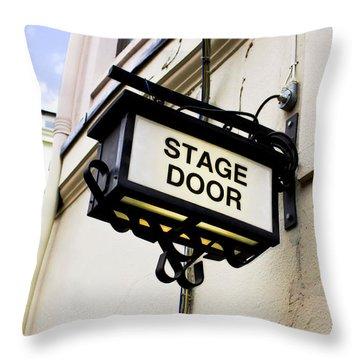Stage Door Sign Throw Pillow