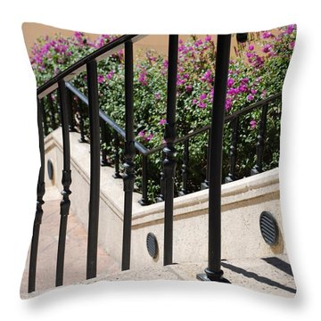 Stairs And Rails Throw Pillow by Rob Hans