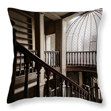 Dome Of Light - Abandoned Building Throw Pillow