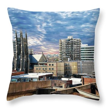 Stamford Cityscape Throw Pillow