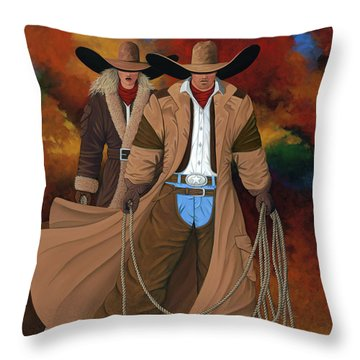 Stand By Your Man Throw Pillow by Lance Headlee