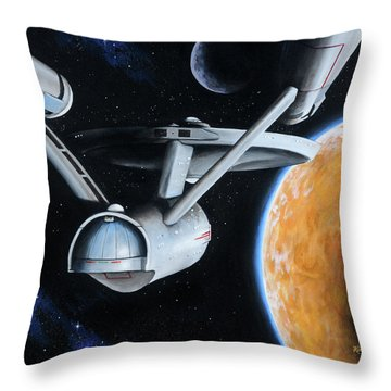 Standard Orbit Throw Pillow