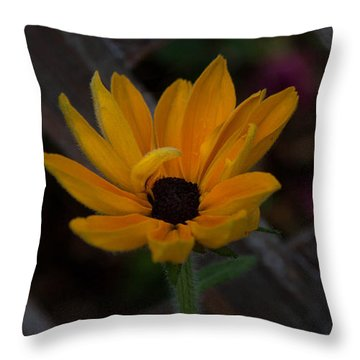 Standing Alone Throw Pillow by Cherie Duran